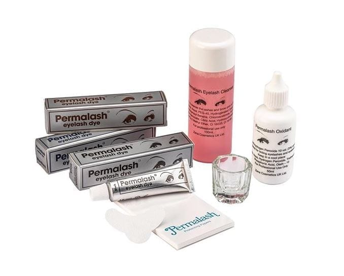Image of a variety of Permalash products, from Zena Cosmetics.